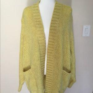 Zara Knit Oversize Yellow Cardigan size S